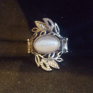 Paparazzi Silver and Moonstone Ring